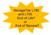 StorageTek L180 L700 End of Life